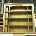 Oak MDF top bookcase unit