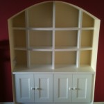 Painted cream bookcase unit