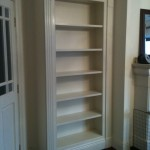 Painted cream tall bookcase