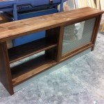 Walnut rad cover with book shelves